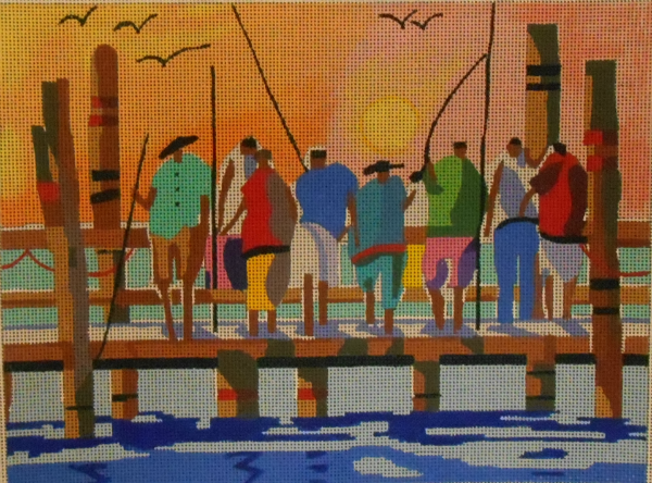 The Dock Fishermen by Purple Palm