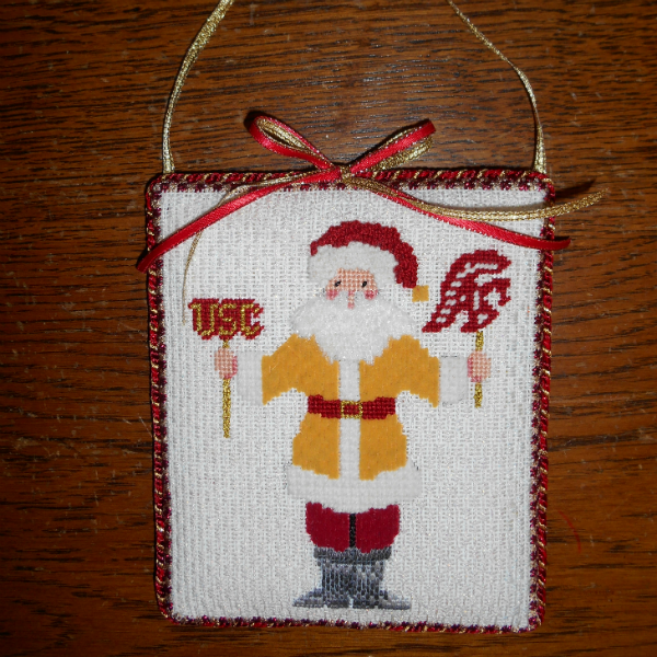 USC Santa Finished as an ornament or plaque
