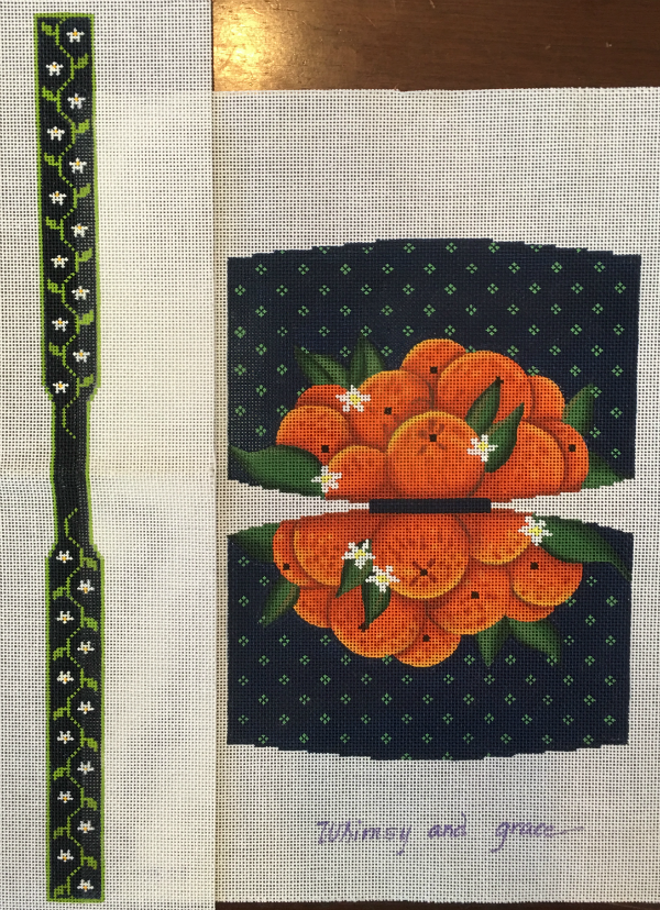 Blue Bag of Oranges Purse from Whimsy & Grace