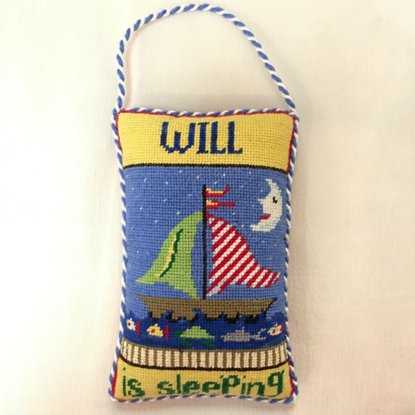 Will is Sleeping - finished (canvas by Patti Mann)