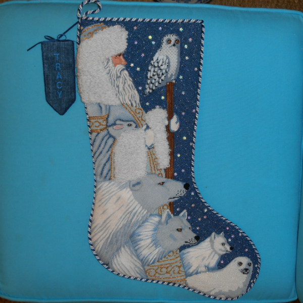 Woodland Santa Stocking finished