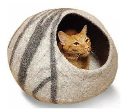 Gray Swirl Cat Cave