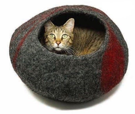 Red Swirl Cat Cave