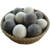 100% Wool Dryer Balls - 3 Gray 3 Light