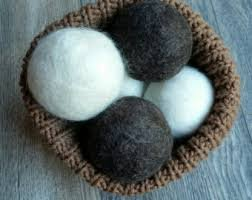 100% Wool Dryer Balls - 2 Light  2 Dark