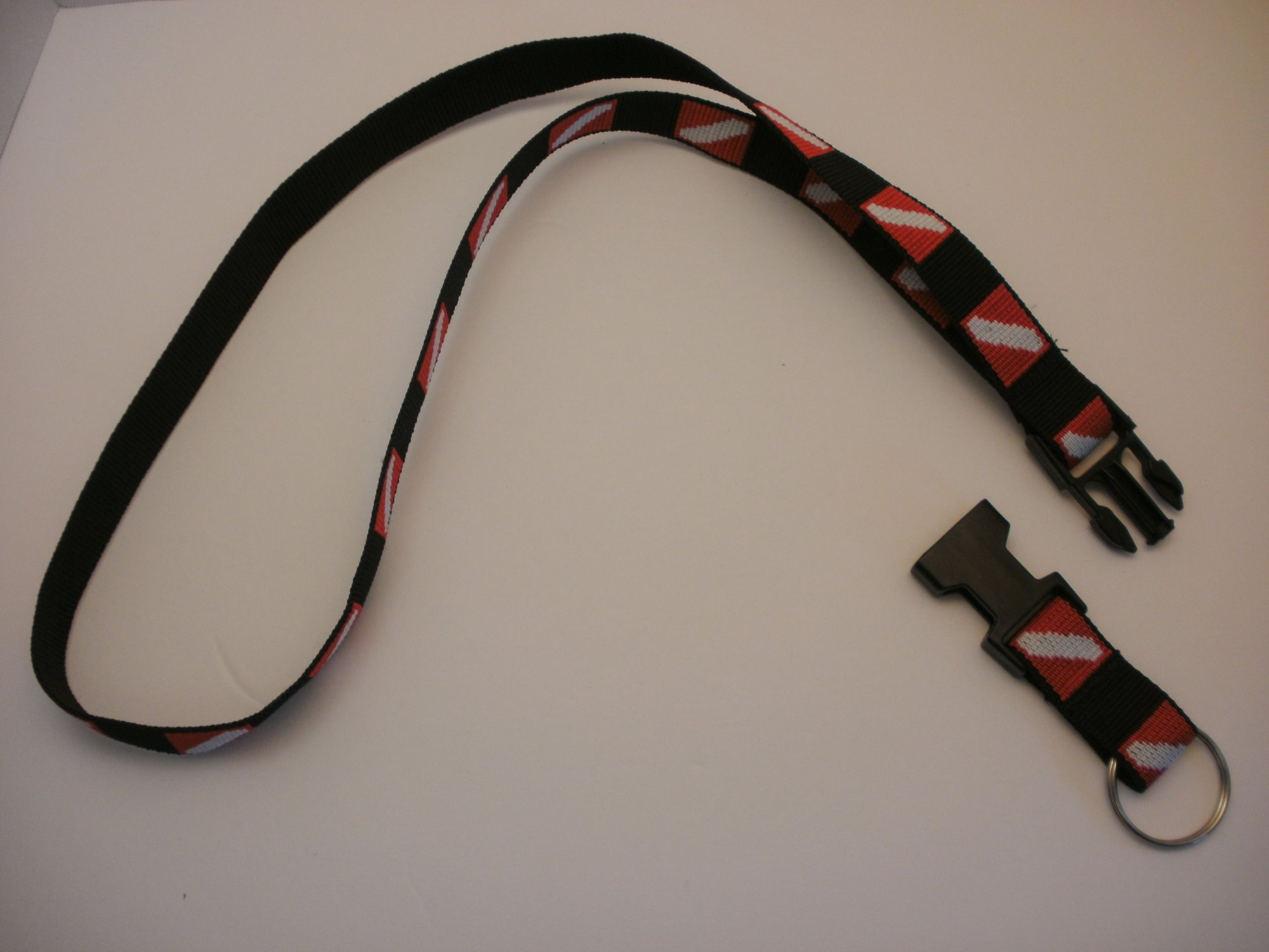 Dive Flag Lanyard w/Quick Release & Ring