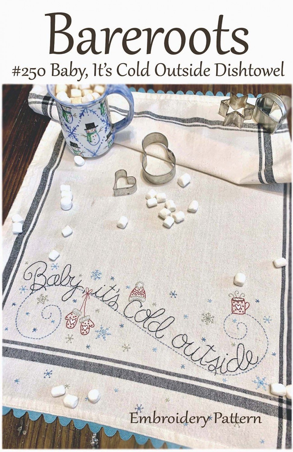 Bareroots - Dishtowel Pattern and Floss Kit - 01 January - Baby It's Cold Outside - BR250K
