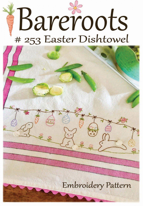 Bareroots - Dishtowel Pattern and Floss Kit - 04 April - Easter - BR253K