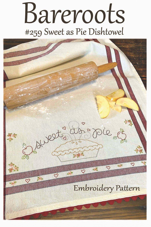 Bareroots - Dishtowel Pattern and Floss Kit - 09 September - Sweet as Pie - BR259K
