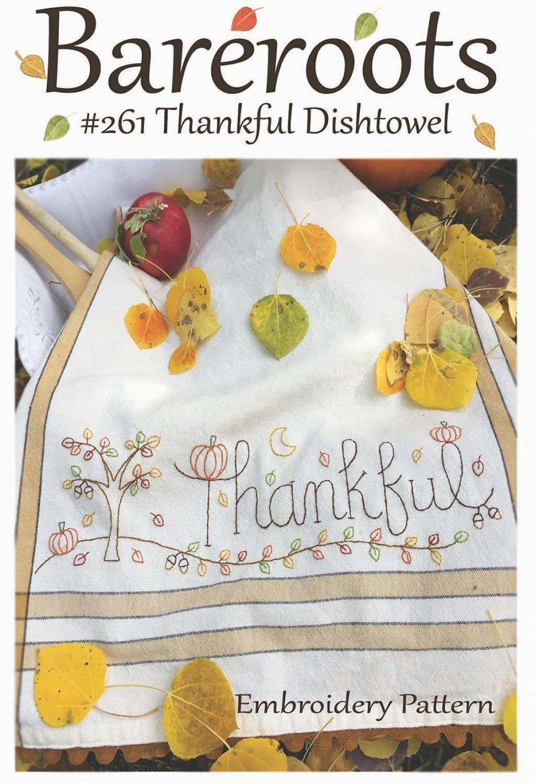Bareroots - Dishtowel Pattern and Floss Kit - 11 November - Thankful - BR261K