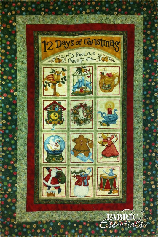 Benartex - Nancy Halvorsen - 12 Days of Christmas Quilt KIT