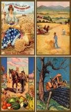 Vintage Panels - Agriculture Art Set 1