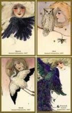 Vintage Panels - Land Birds by Schmucker