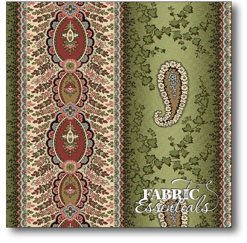 Marcus - Old Sturbridge Village - Anniversary Collection - R33-2829-0116 Paisley Stripe - Sage Rouge