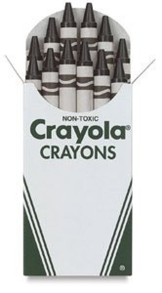 Crayola Crayons - Box of 12 White Crayonsp
