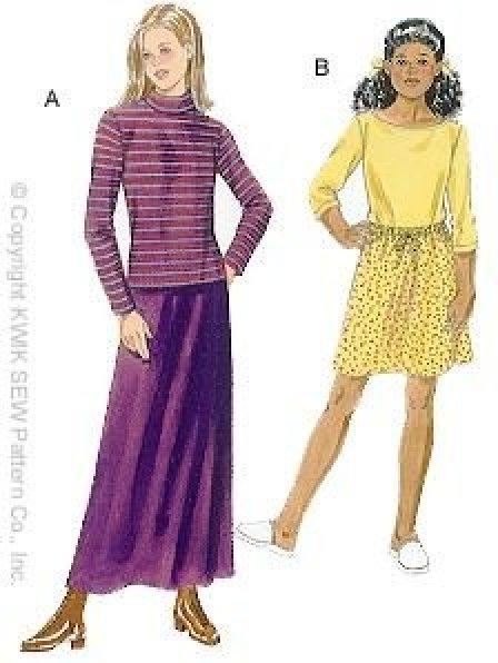 Kwik Sew - 2819 - Girls' Tops & Skirts