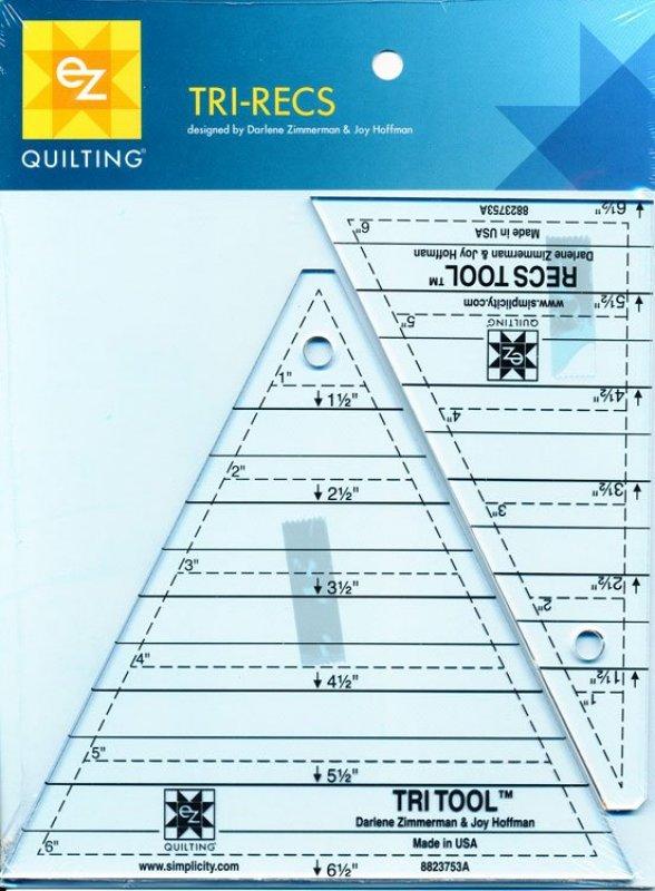 EZ Quilting - Tri-Recs Ruler - 8823753