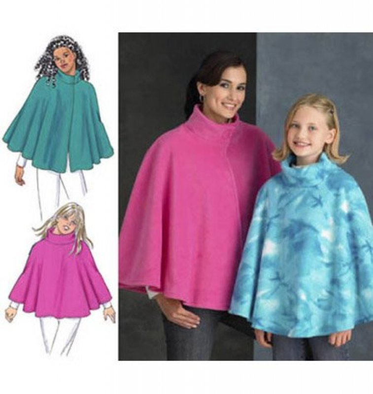 Kwik Sew - 3458 - Misses' and Girls' Ponchos