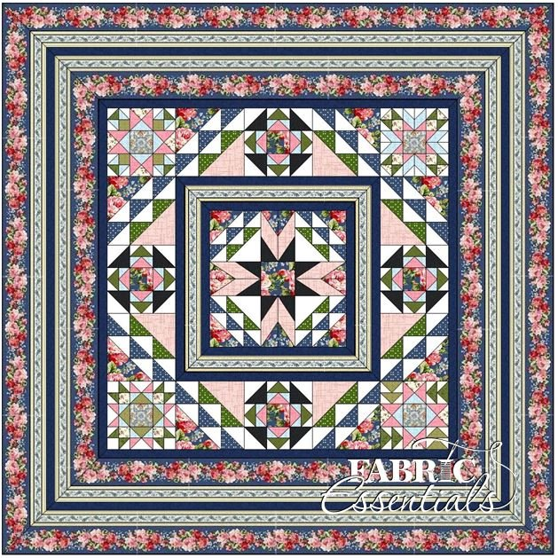American Bouquet BOM Quilt - Blue - Includes Backing - SOLD OUT!