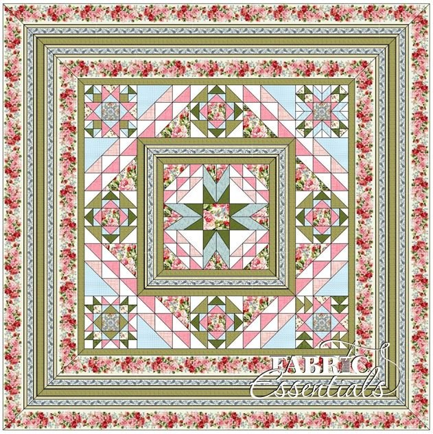 American Bouquet BOM Quilt - White - Includes Backing!