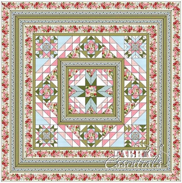 American Bouquet BOM Quilt - White