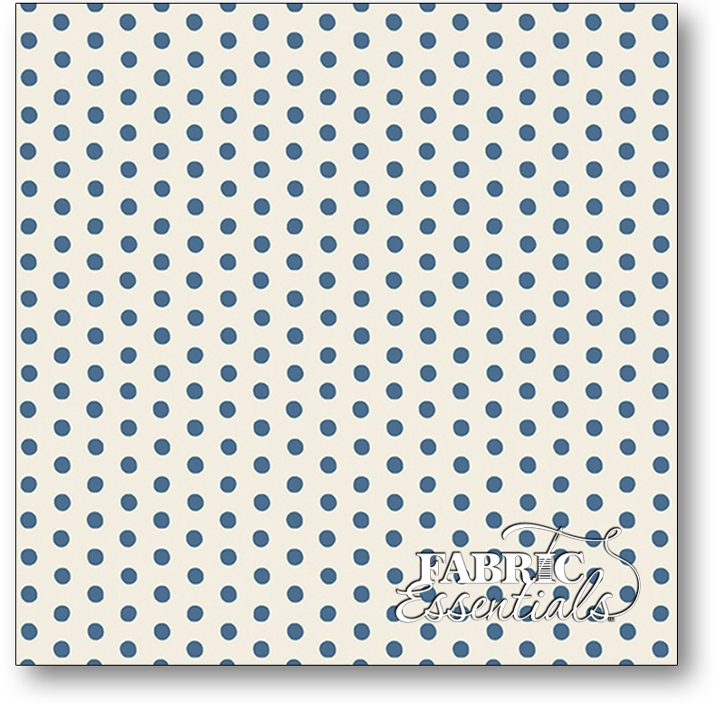 Andover - Apple Pie - A-9499-B - Blue Dots on White