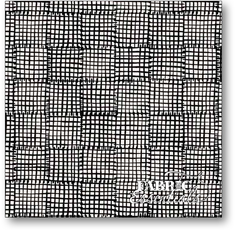 Andover - Cats and Dogs - Grid - A-8456-K Black