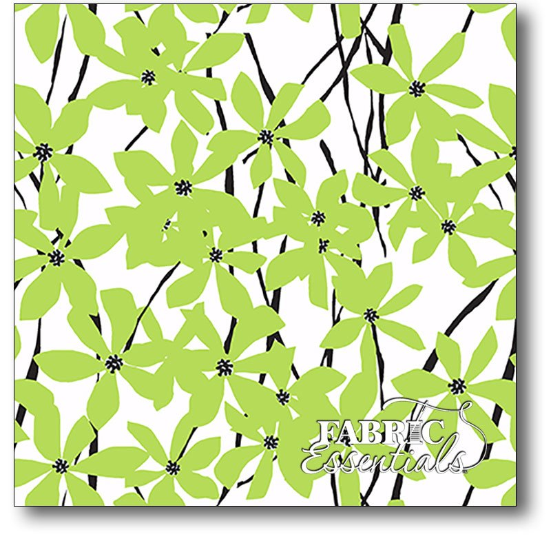 Andover - Daisy Splash - Small Flowers - A-7838-G Lime Green