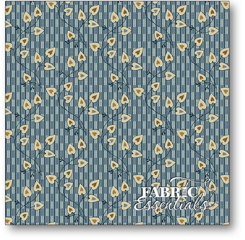 Andover - Edyta Sitar - Laundry Basket Quilts - Blue Sky - A-8507-B - Sweethart - Azura