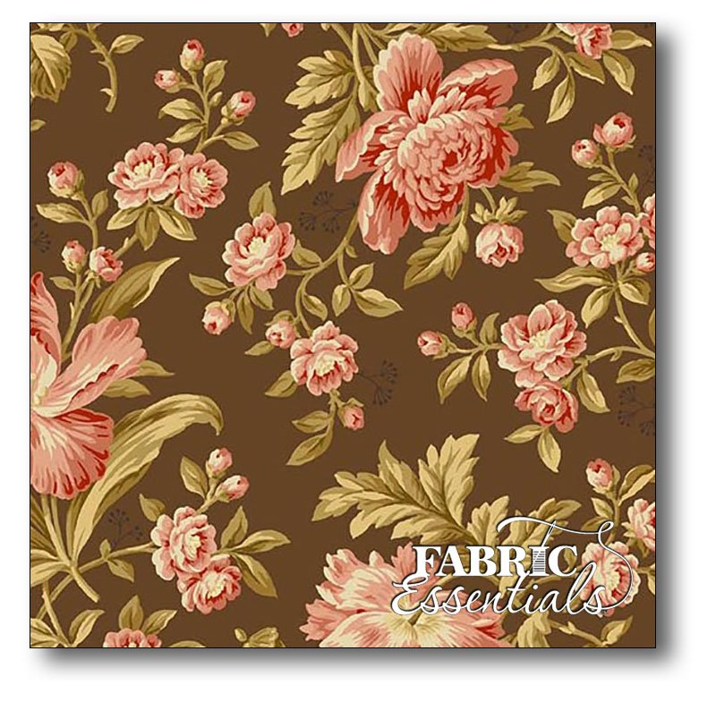 Andover - Edyta Sitar - Laundry Basket Quilts - Crystal Farm - A-8614-N - Rose - Chestnut