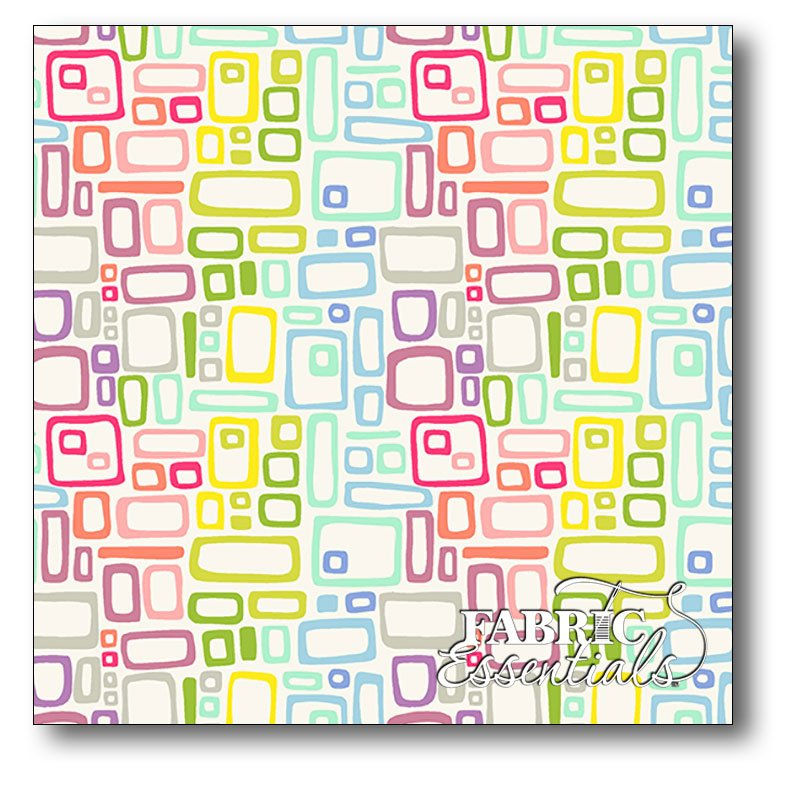 Andover - Kim Schaefer - Uptown - Rainbow Rectangles - A-8664-L White