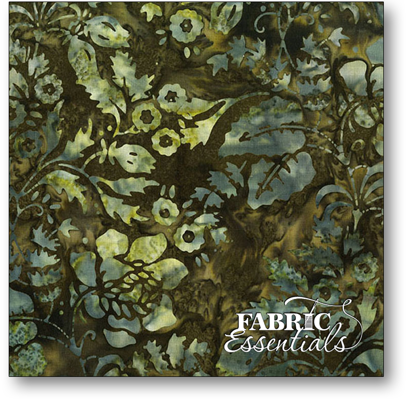 Andover - Laundry Basket Quits - A Splash of Color Batiks - AB-8594-G Wild Blue Secret Garden