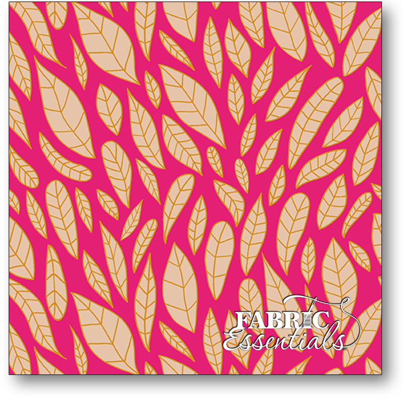 Andover - Shannon Brinkley - Mosaic - Leaves - A-8883-E Magenta