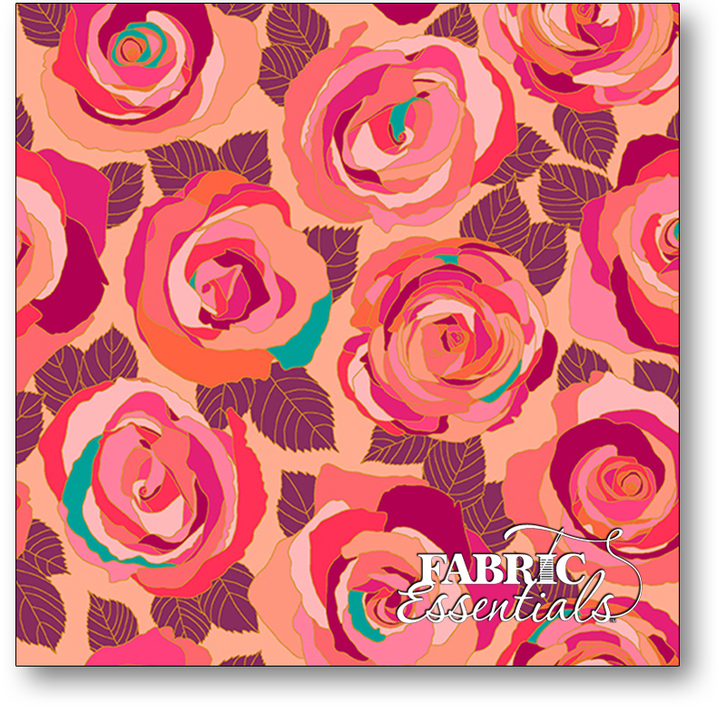 Andover - Shannon Brinkley - Mosaic - Roses - Metallic - A-8880-E Radience - BUY THE BOLT - 17IN
