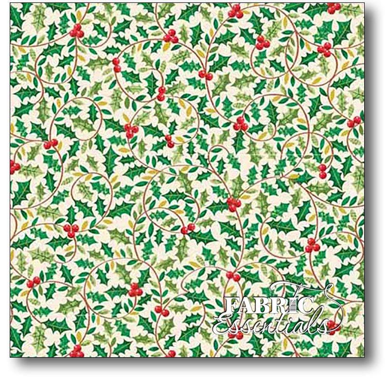 Andover - Traditional Metallic Christmas - Holly  TP-1792-1
