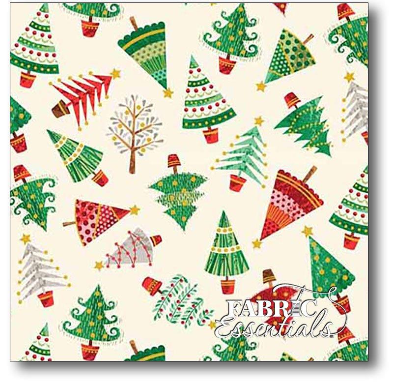 Andover - Traditional Metallic Christmas - TP-1793-Q - Trees