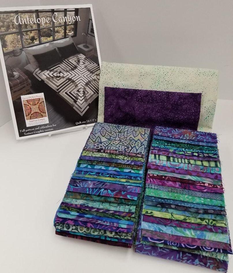 Antelope Canyon KIT - Batiks - Purple-Teal-Green Colorway - TWO Sizes!