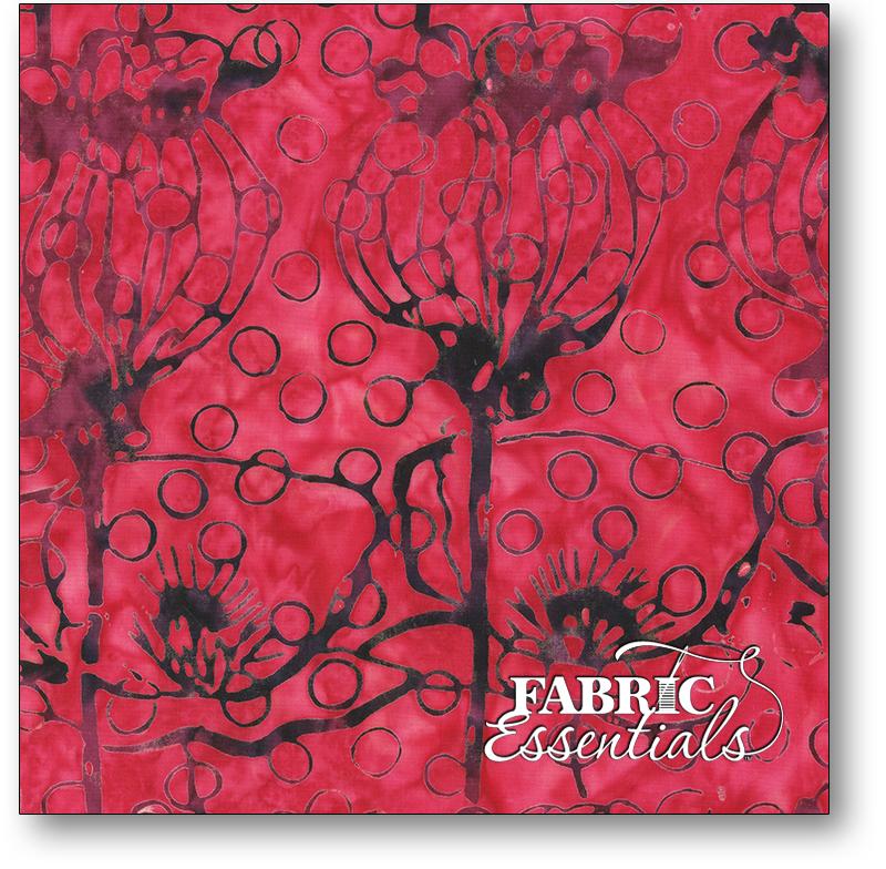 Anthology Fabrics - Natalie Barnes - Island Home Batiks - 700Q-2 Berry