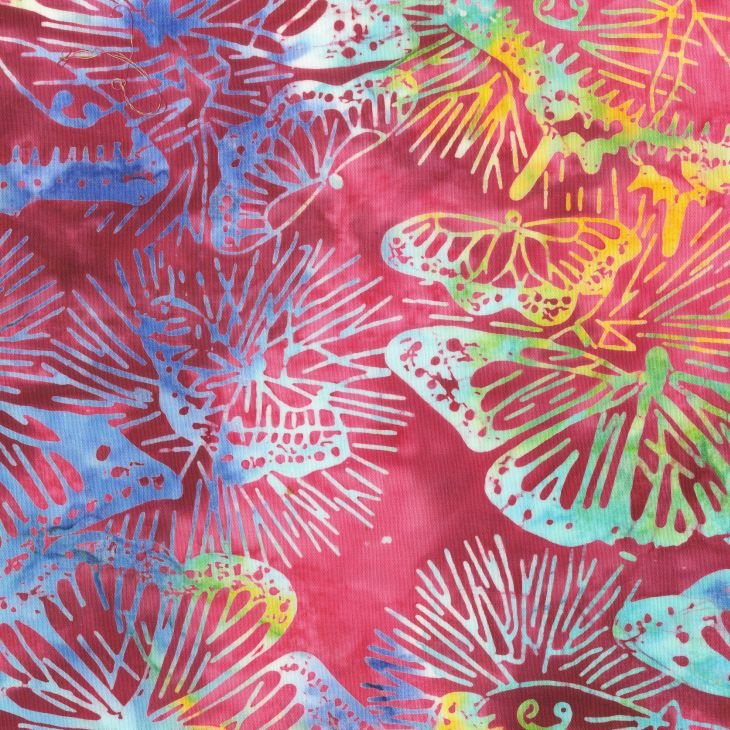 Anthology Fabrics - Natalie Barnes - Island Home Batiks - 701Q-1 Berry