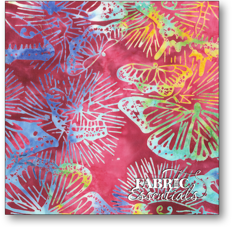 Anthology Fabrics - Natalie Barnes - Island Home Batiks - 701Q-1 Berry