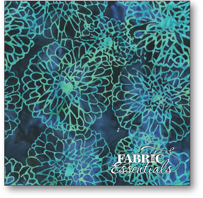 Anthology Fabrics - Natalie Barnes - Island Home Batiks - 702Q-1 Deep Waters