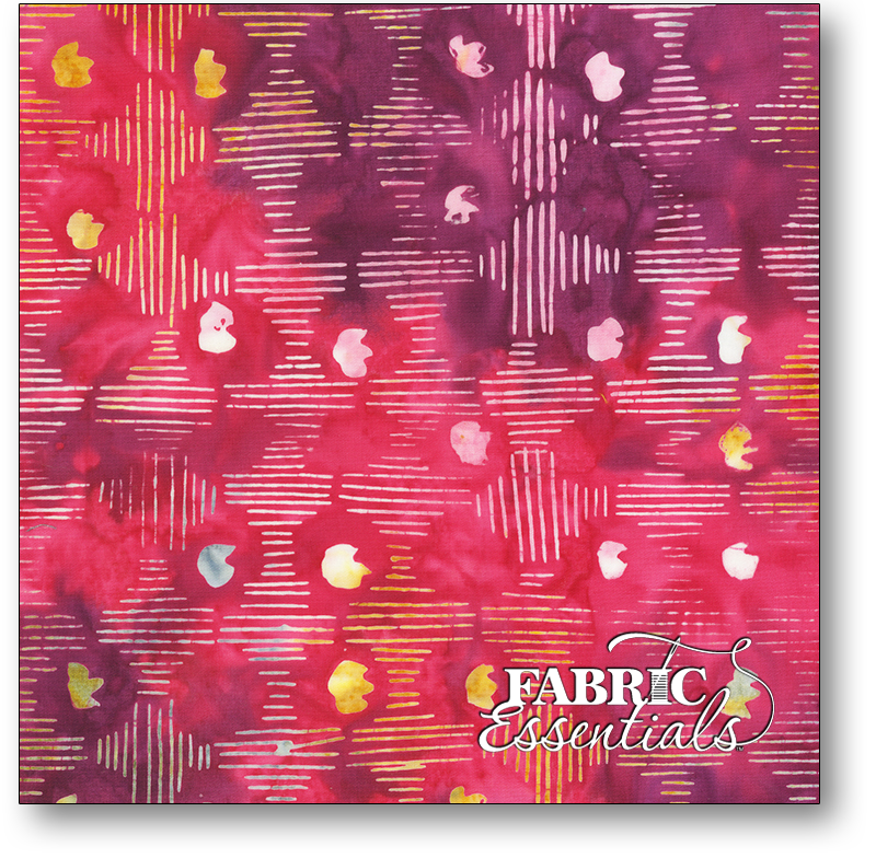 Anthology Fabrics - Natalie Barnes - Island Home Batiks - 708Q-4 Berry