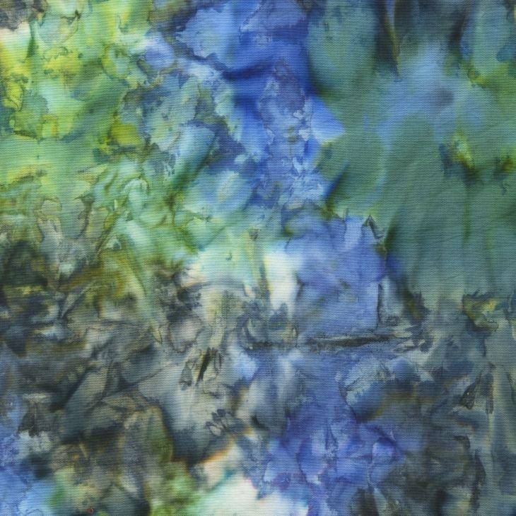 Anthology Fabrics - Natalie Barnes - Island Home Batiks - 709Q-2 Deep Water