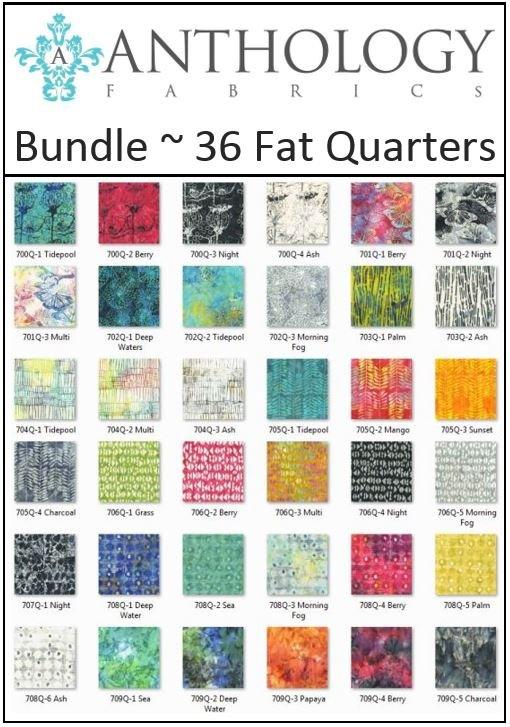 Anthology Fabrics - Natalie Barnes - Island Home - Fat Quarter Bundle of 36 FQ!