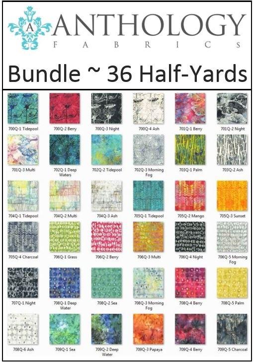 Anthology Fabrics - Natalie Barnes - Island Home - 36 Half-Yards!