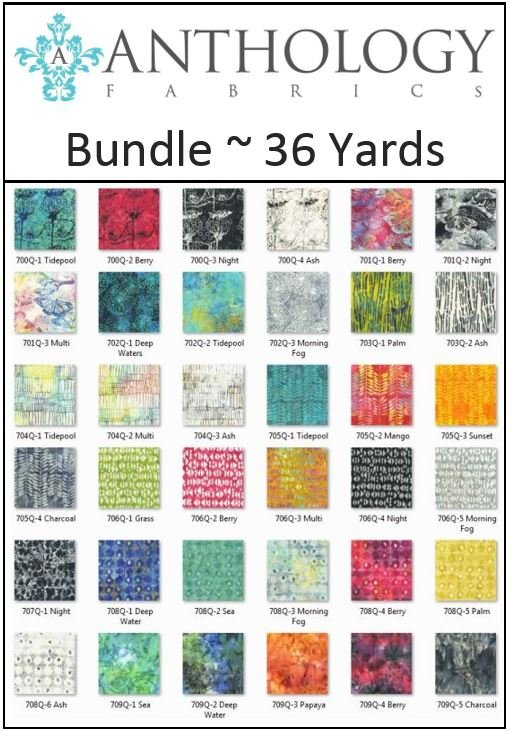 Anthology Fabrics - Natalie Barnes - Island Home - 36 Yards!