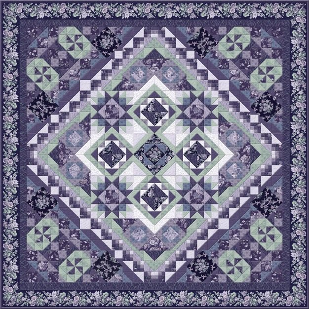 Aubergine BOM - Two Sizes - Includes Backing!