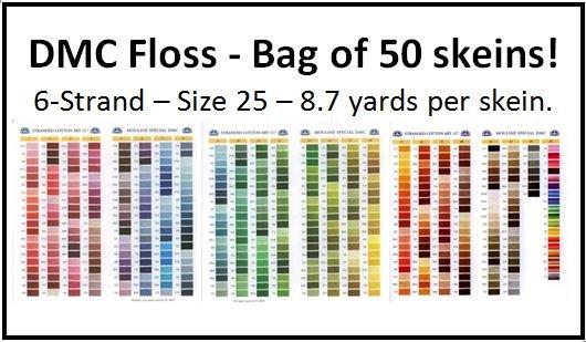 DMC Floss - Bag of 50 Skeins!