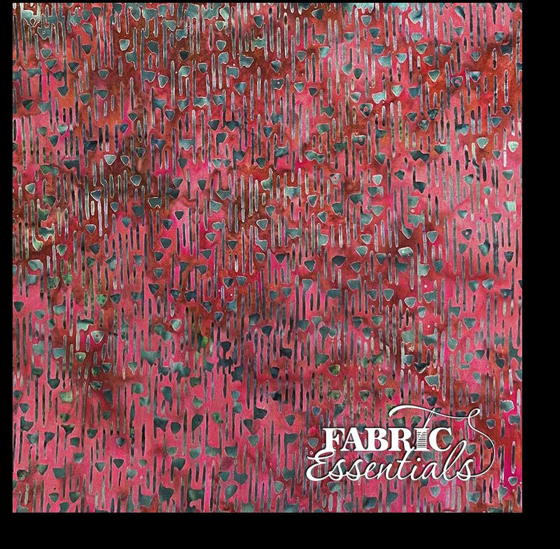 Bali Fabrics - Princess Mirah - Batiks - Rustic Red - 74-C