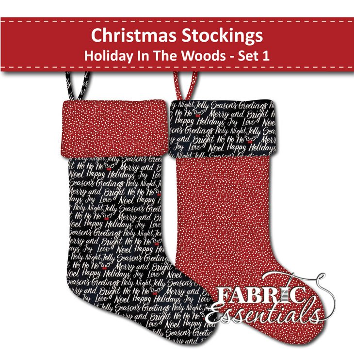 Holiday in the Woods - Christmas Stockings - Set 1